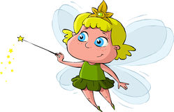 Little Fairy. On a white background, vector Stock Image