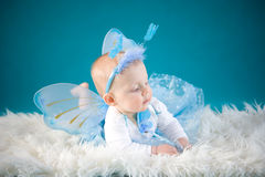 Little fairy. Baby girl in cute costume Royalty Free Stock Photos