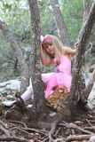 Little fairy ballerina in a forest Royalty Free Stock Photo