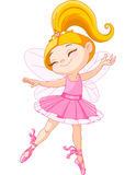 Little fairy ballerina. Illustration of a happy little fairy ballerina Stock Photo