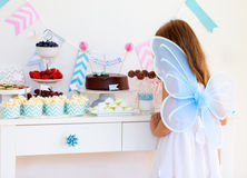 Little fairy on birthday party Stock Photos