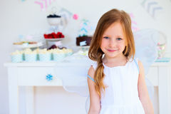 Little fairy on birthday party Stock Images