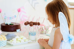 Little fairy on birthday party Royalty Free Stock Photo