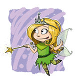 Little Fairy Girl Royalty Free Stock Photography