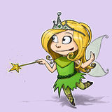 Little Fairy Girl Stock Photography