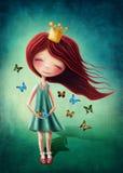 Little fairy girl vector illustration