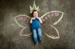 Little Fairy girl smiling Stock Image