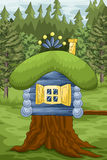 Forest home character cartoon style  illustration Stock Photography