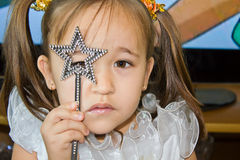Little fairy with a magic wand Royalty Free Stock Photo