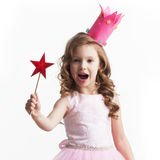 Little fairy with magic wand Stock Images
