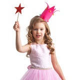 Little fairy with magic wand Stock Photos