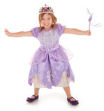 Little Fairy Princess Happily Granting a Wish to Someone Stock Photos