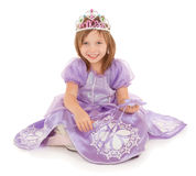 Little Fairy Princess Sitting and Smiling Royalty Free Stock Images
