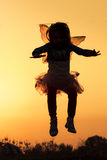 Little fairy silhouette Royalty Free Stock Photos