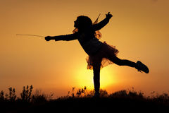 Little fairy silhouette Royalty Free Stock Photo
