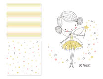 Free Little Fairy. Surface Design And 2 Seamless Patterns Royalty Free Stock Photo - 90540485