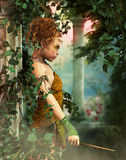 Little Fairy with a Wand, 3d CG Stock Images