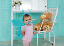 The little fairy with wings Stock Images