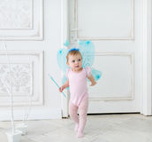 The little fairy with wings Royalty Free Stock Photography