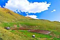 Little farm in the Caucasus mountains Royalty Free Stock Image