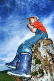 Little farmer Stock Images