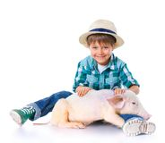 Little farmer. Royalty Free Stock Images