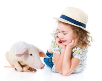 Little farmer. Royalty Free Stock Photos