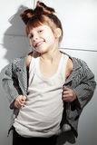 Little Fashion Girl Stock Photo