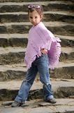 Little fashion girl Royalty Free Stock Images