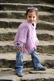 Little fashion girl Stock Images