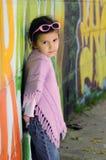 Little fashion girl Stock Image