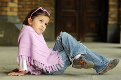 Little fashion girl Royalty Free Stock Photo