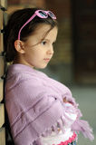 Little fashion girl. Happy smiling child looking into the camera Stock Photos