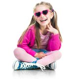 Little fashion girl Stock Photography