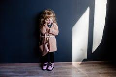 Little fashion girl. stock photos