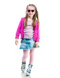 Little fashion girl Stock Photos