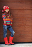 Little fashion girl Stock Image