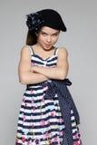 Little girl shy stock photography