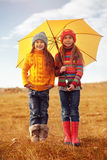 Little fashion girls Stock Image