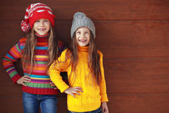 Little fashion girls Stock Images