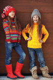 Little fashion girls Royalty Free Stock Image