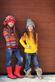 Little fashion girls Stock Photo
