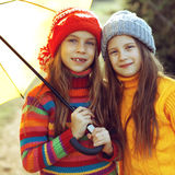 Little fashion girls Stock Photography