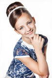 Little fashion kid girl. Portrait of a little fashion kid girl royalty free stock images