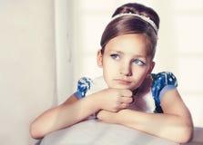 Little fashion kid girl. Portrait of a little fashion kid girl royalty free stock photos