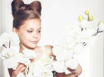 Little fashion kid girl Stock Photos