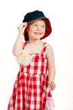 Little fashion lady. Little fashion girl studio shot on white background Royalty Free Stock Image