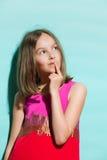 Little fashion model thinking royalty free stock photos