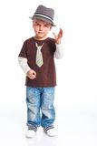 Little fashionable boy Stock Images