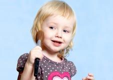 Little fashionable girl Stock Image